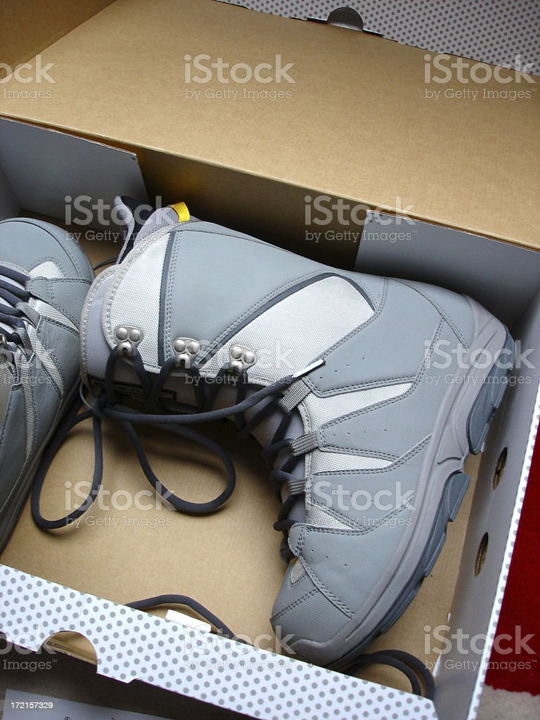 Boot in a box stock photo