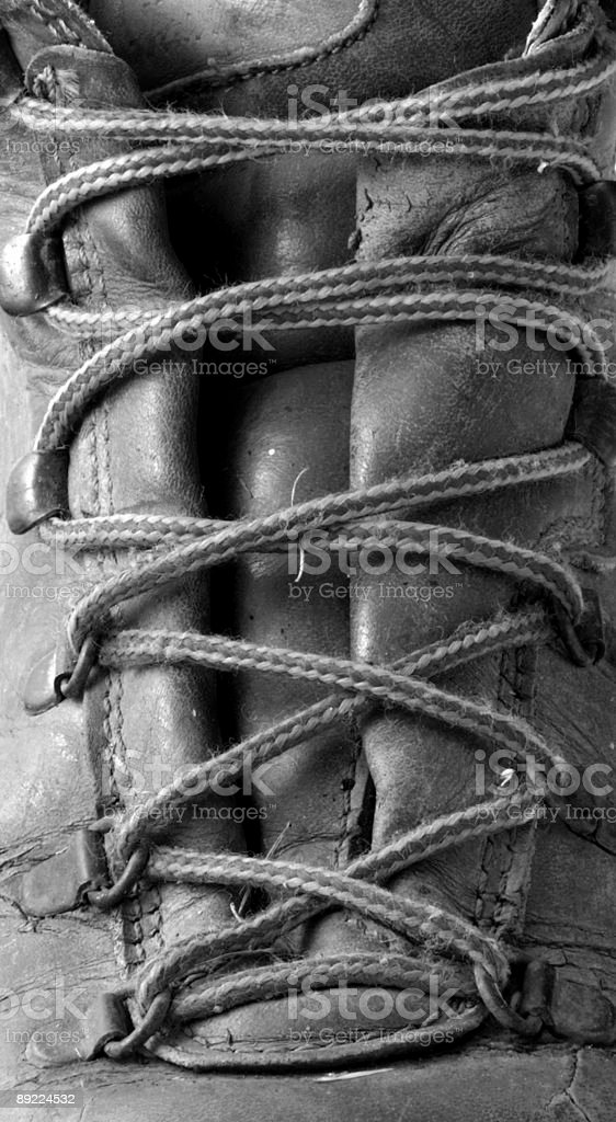boot laces royalty-free stock photo