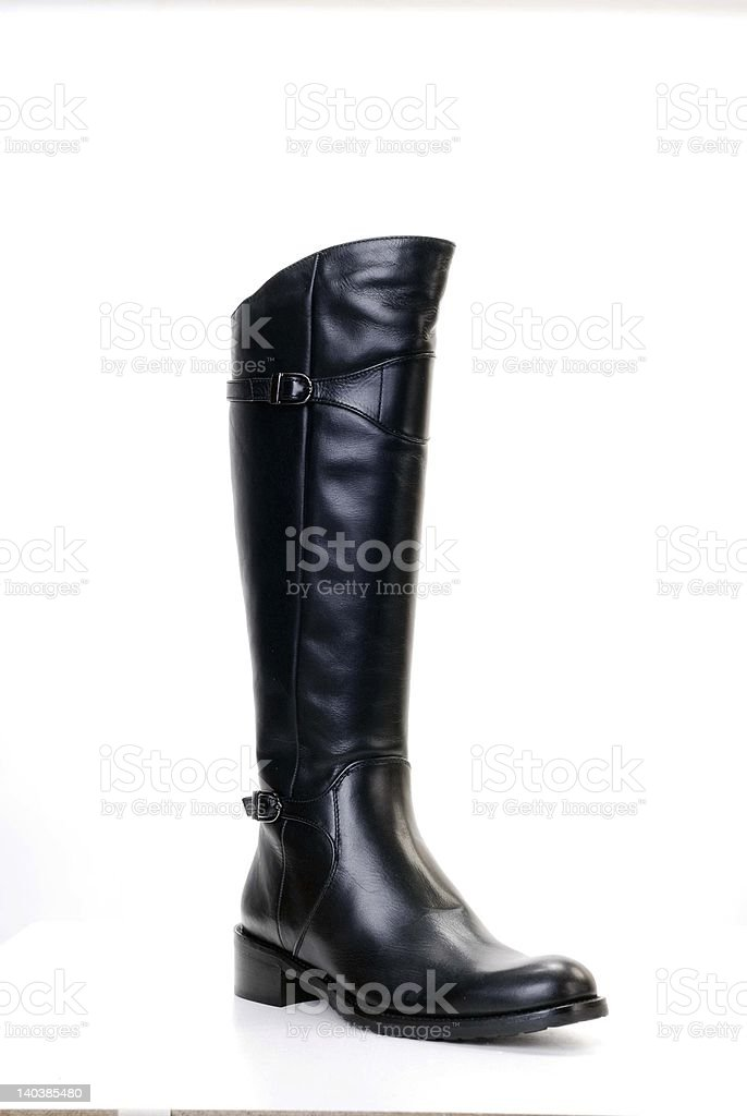 Boot on white stock photo