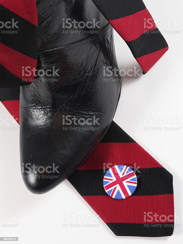 Boot, Tie and Badge royalty-free stock photo