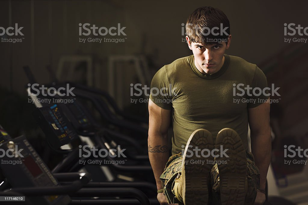 Bootcamp Fitness Trainer stock photo