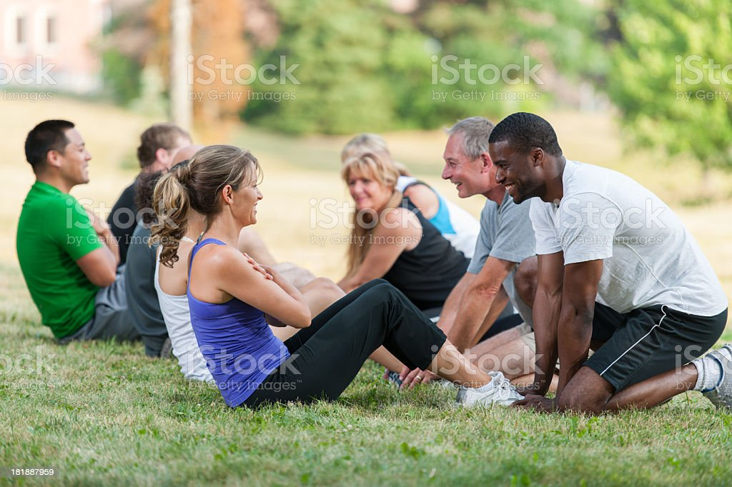 Bootcamp Workout royalty-free stock photo