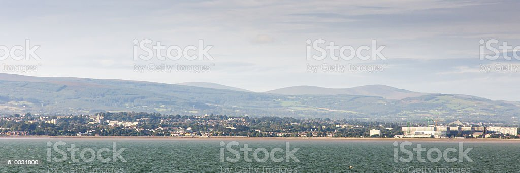 Booterstown cityscape and seafront in Dublin stock photo