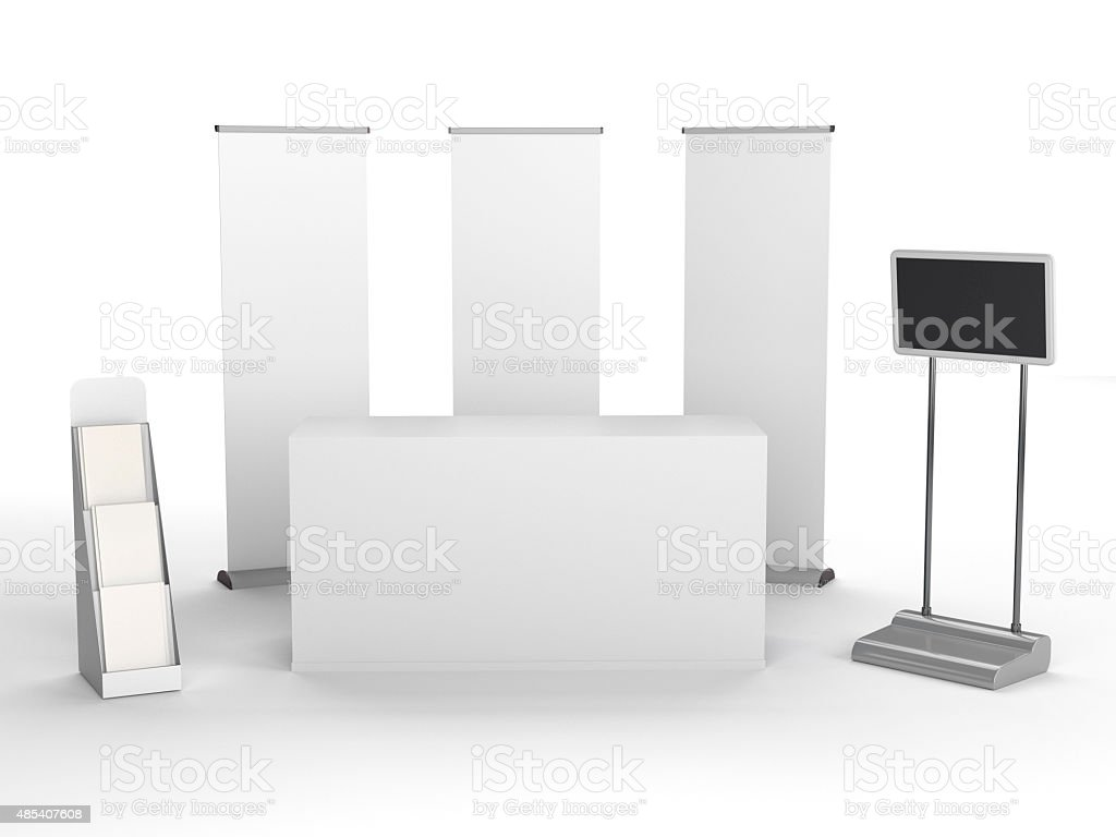 booth or stall stock photo