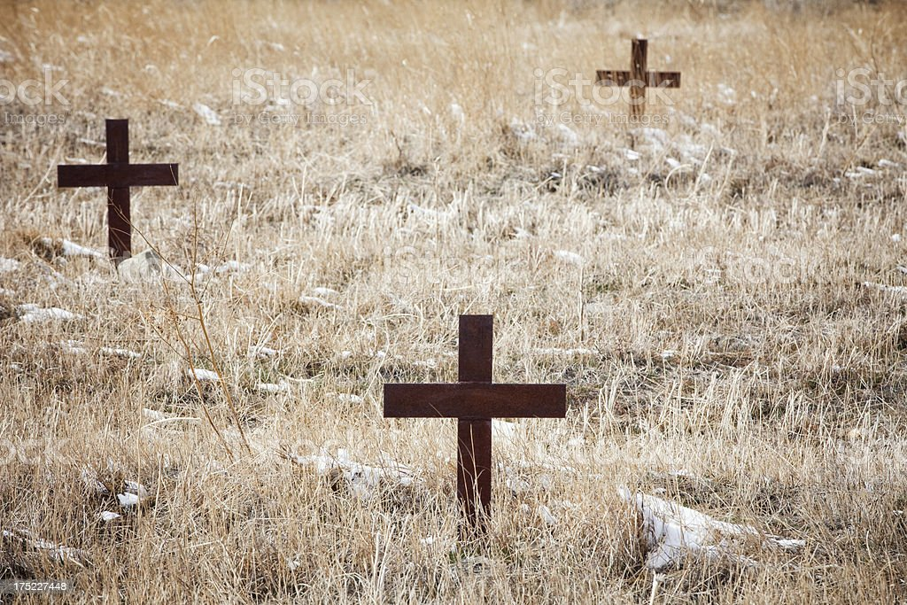 Boothill Cemetery - Billings, Montana stock photo