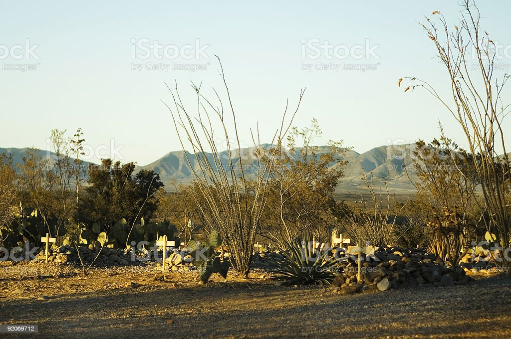 Boothill Cemetery stock photo