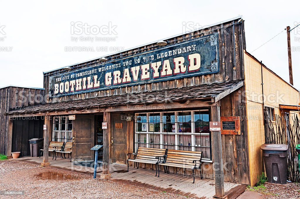 Boothill Graveyard Tombstone Welcome Center stock photo