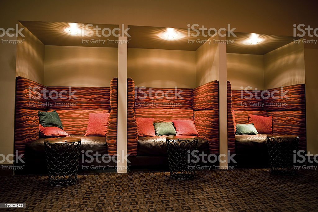 Booths stock photo