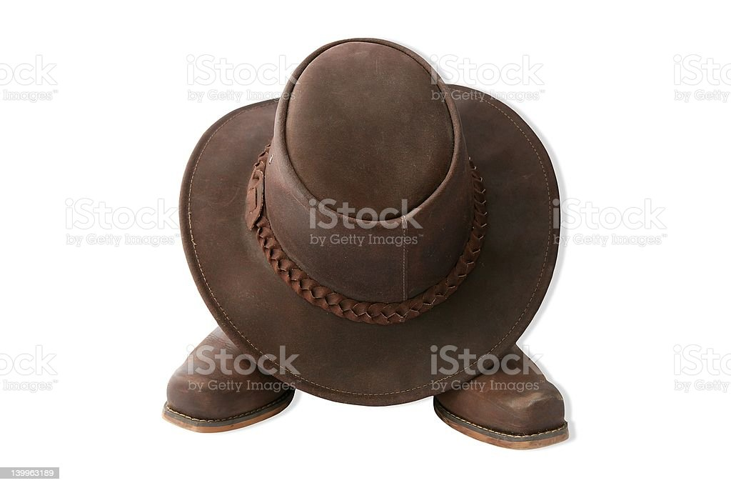 boots and hat stock photo