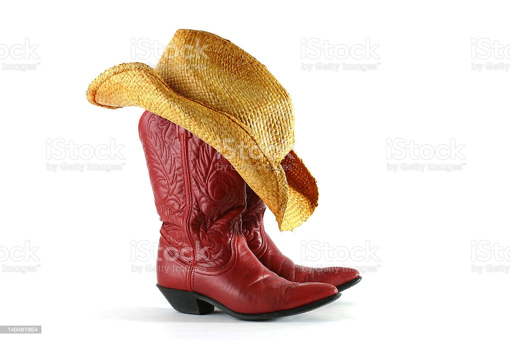 Boots and Hat royalty-free stock photo