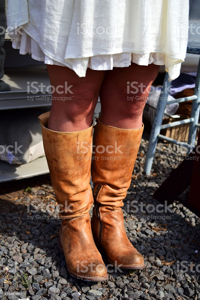 Boots Are Made For Walking stock photo