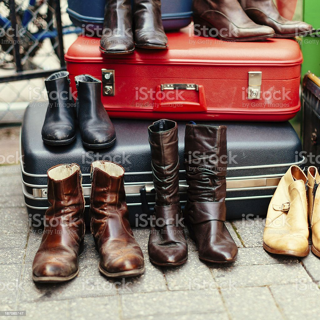 boots for sale royalty-free stock photo