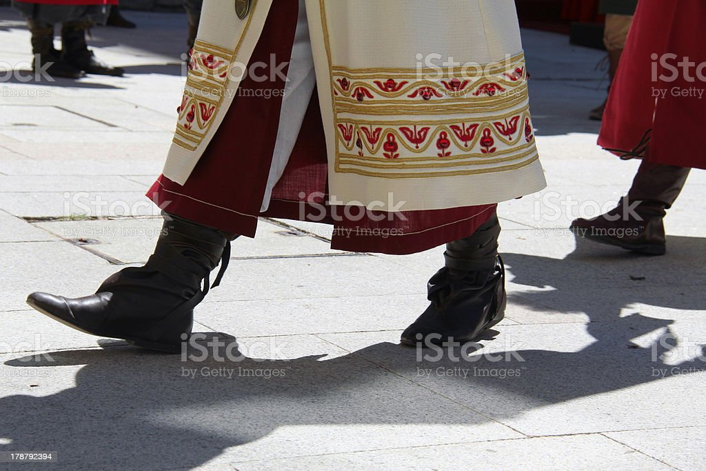 Boots medieval times stock photo