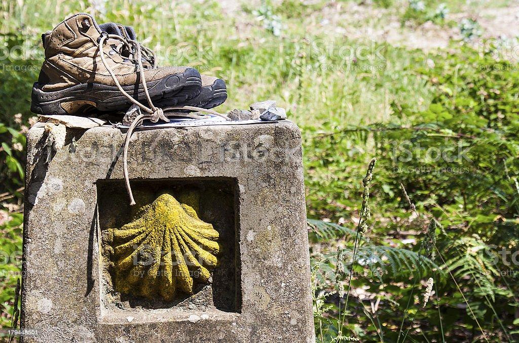 Boots on a landmark stock photo