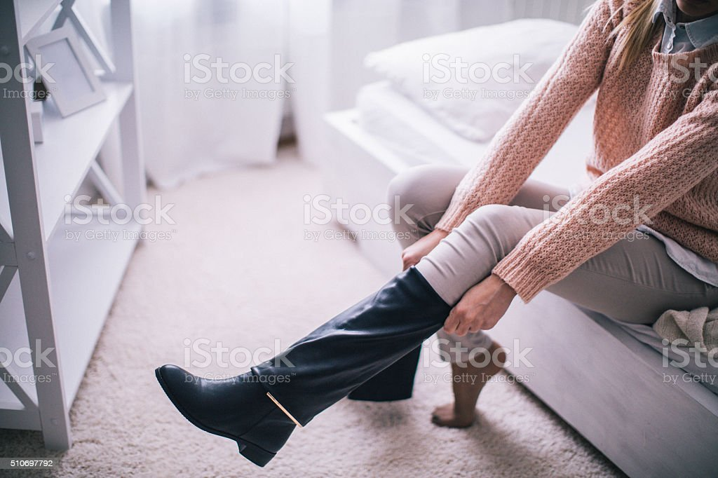 Boots on stock photo