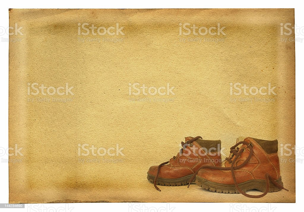 boots on retro background royalty-free stock photo