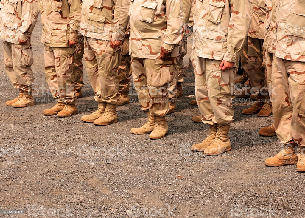 Boots on the Ground stock photo