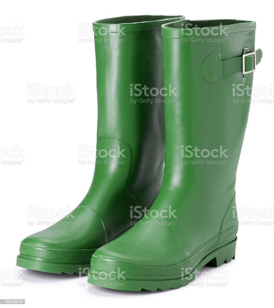Boots on White royalty-free stock photo