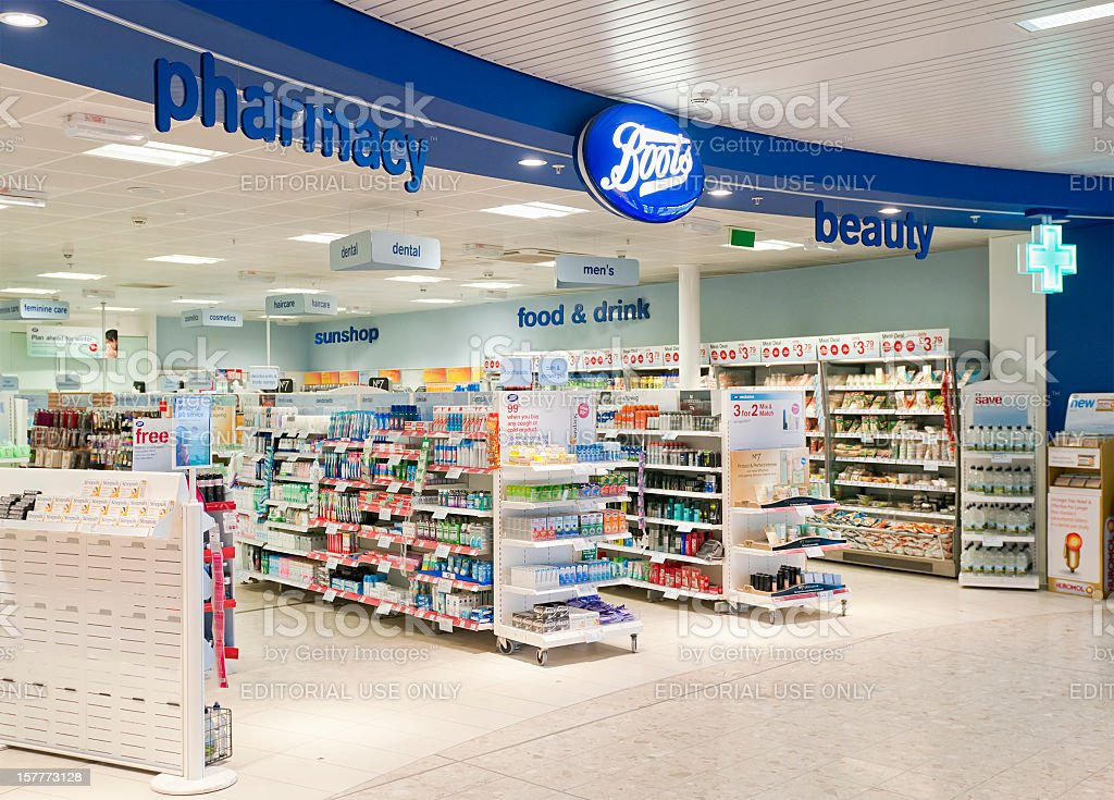 Boots Shop Entrance stock photo
