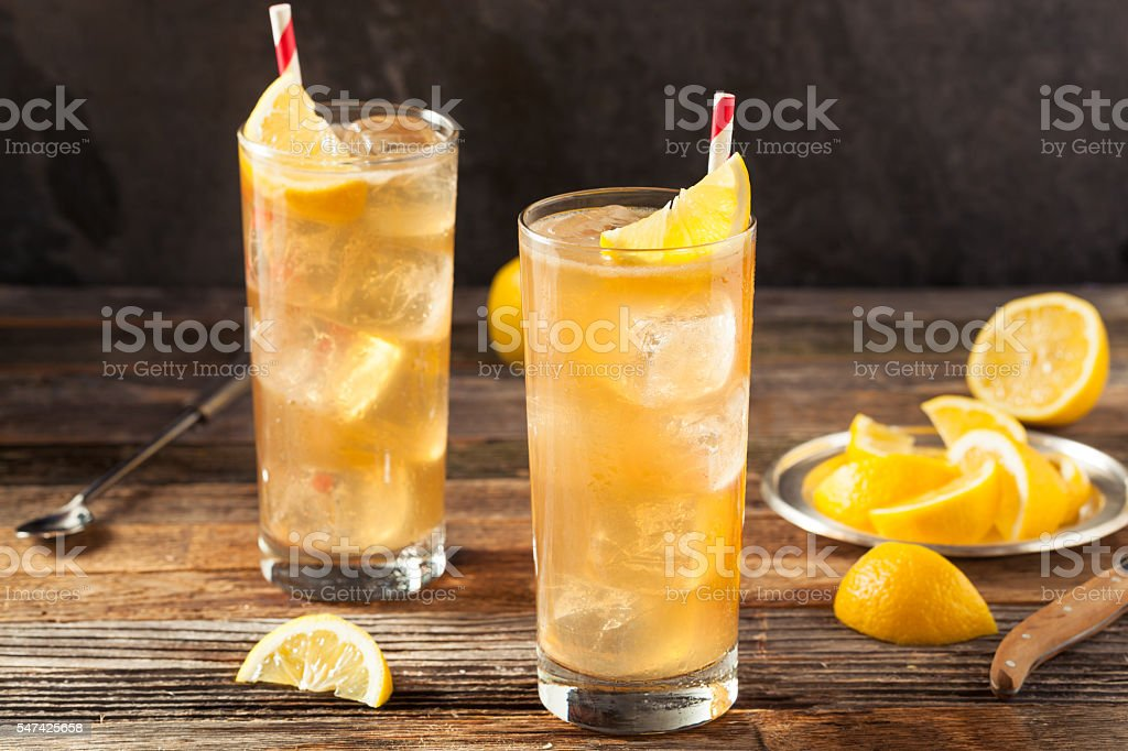 Boozy Long Island Iced Tea stock photo