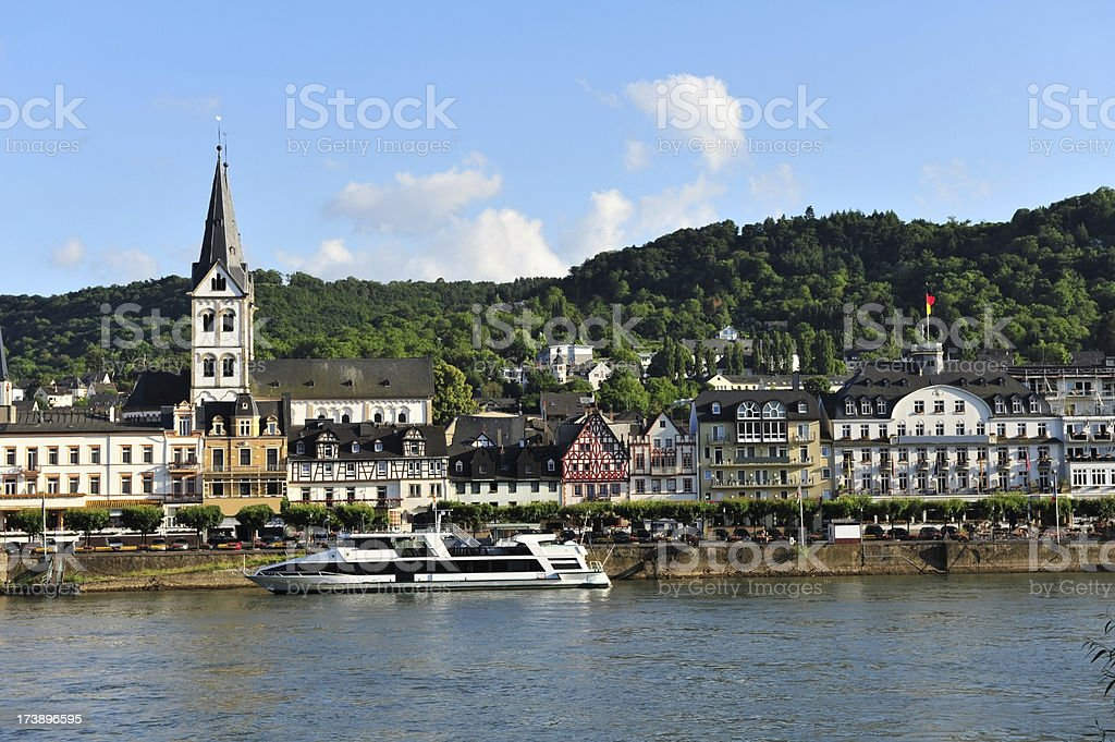 Boppard, a popular tourist town on the River Rhine, Germany stock photo