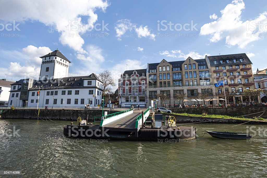boppard and the rhine river germany stock photo