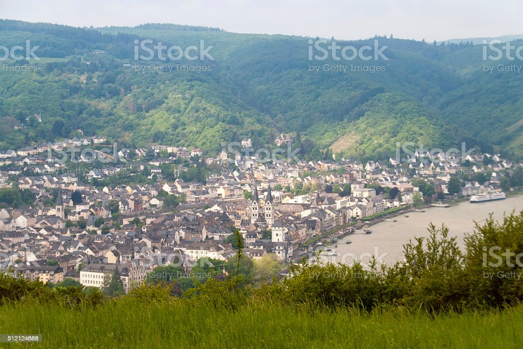 Boppard at the River Rhine stock photo