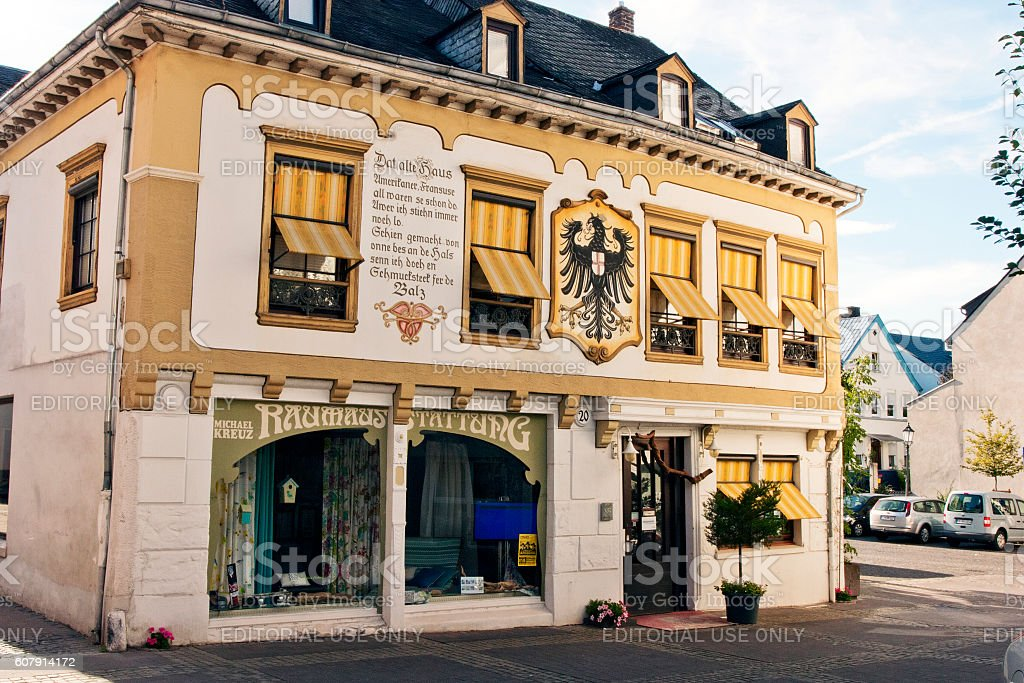 Boppard, Germany - View of the house with a facade stock photo