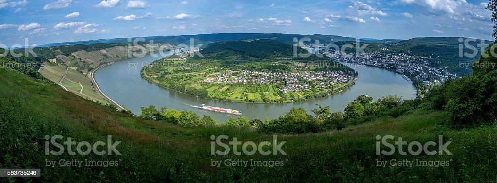 Boppard Panorama Rheinschleife stock photo