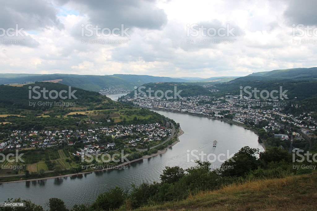 Boppard river scene stock photo