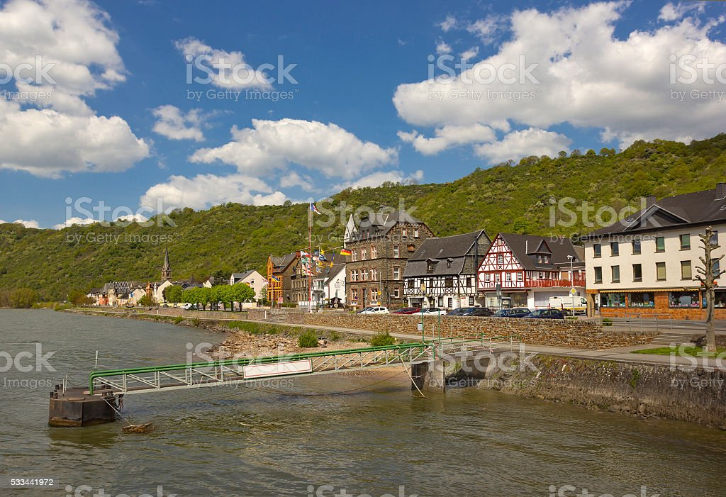 Boppard - small town in Rhineland-Palatinate, Germany stock photo