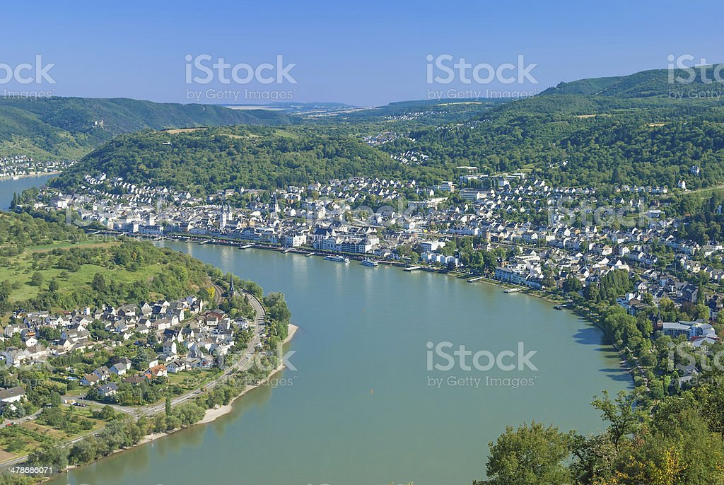 Boppard,Rhine River,Germany stock photo