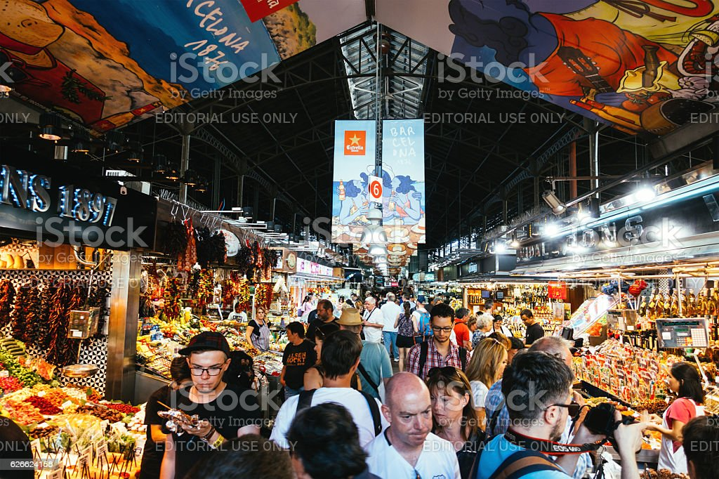 Boqueria Market Barcelona stock photo