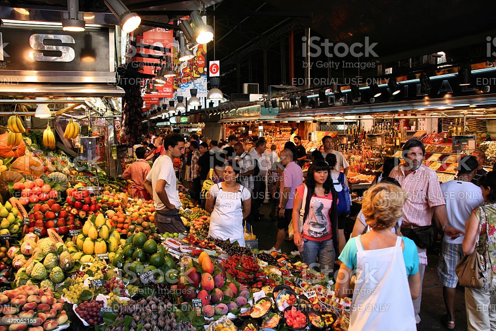 Boqueria market stock photo