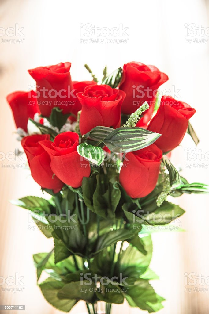 boquet of rose for st. valentine stock photo