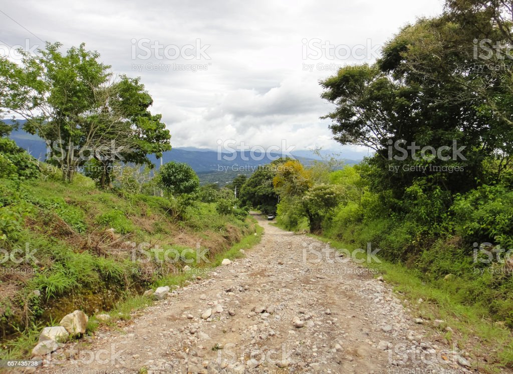 Boquete neighborhoods. Panamanian jungle. Province of Chiricui in Panama stock photo