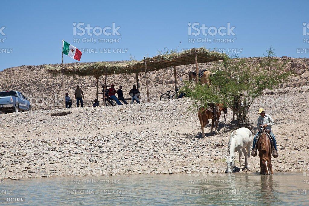 Boquillas del Carmen, Mexico Border royalty-free stock photo
