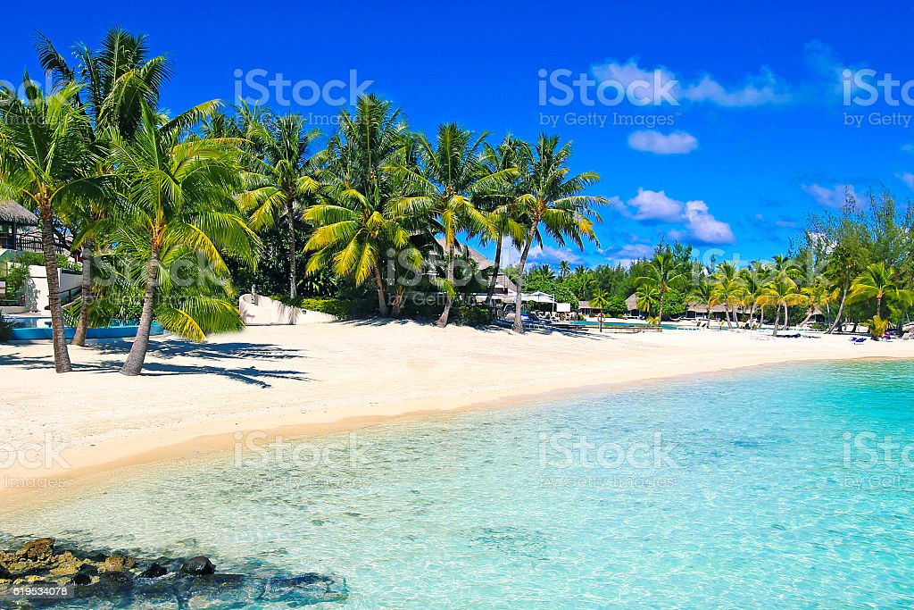 Bora Bora Beach stock photo