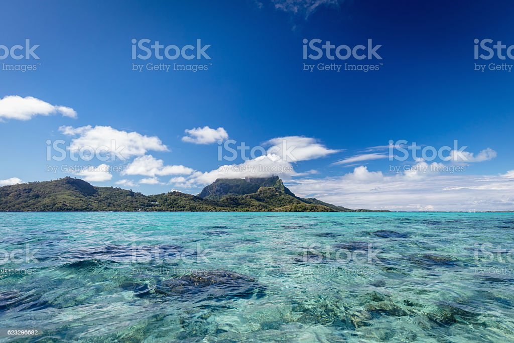 Bora Bora Island Lagoon French Polynesia stock photo