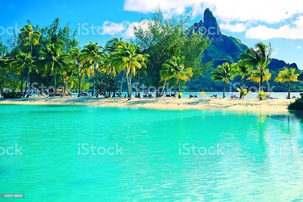 Bora Bora Lagoon stock photo