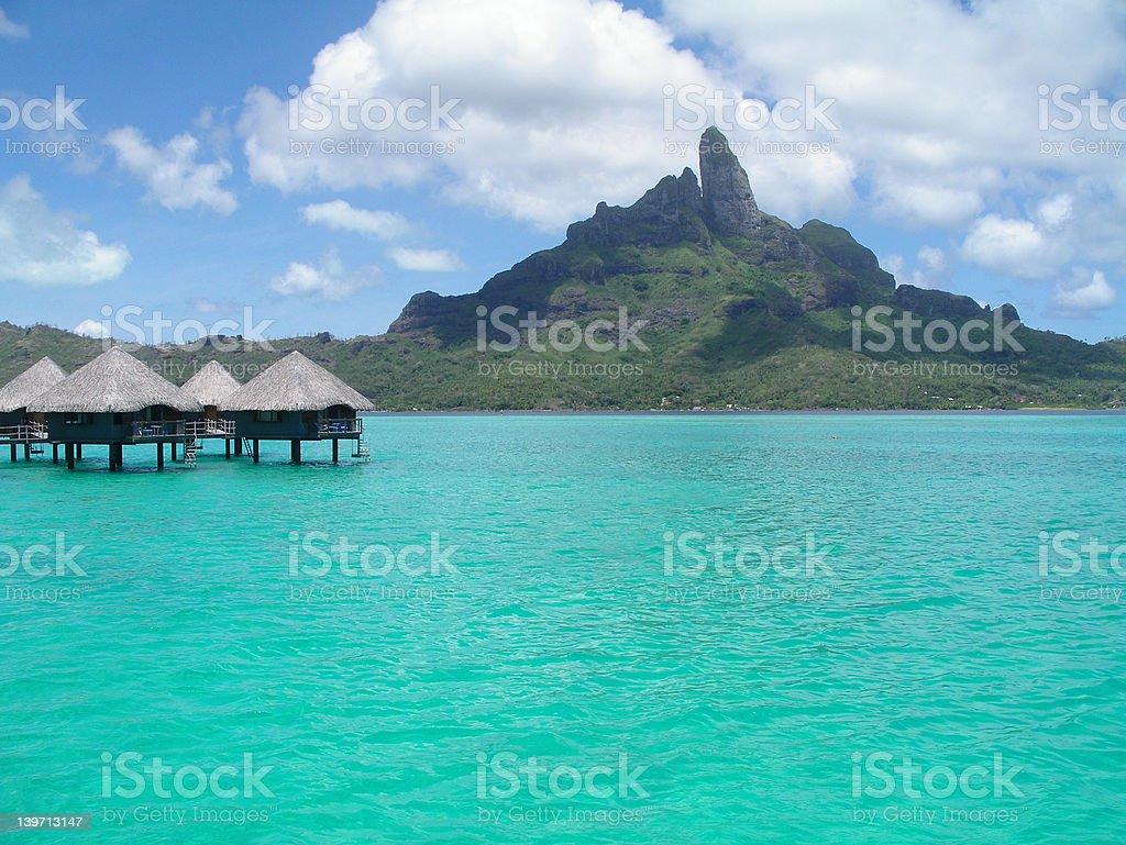 Bora Bora Mountain royalty-free stock photo
