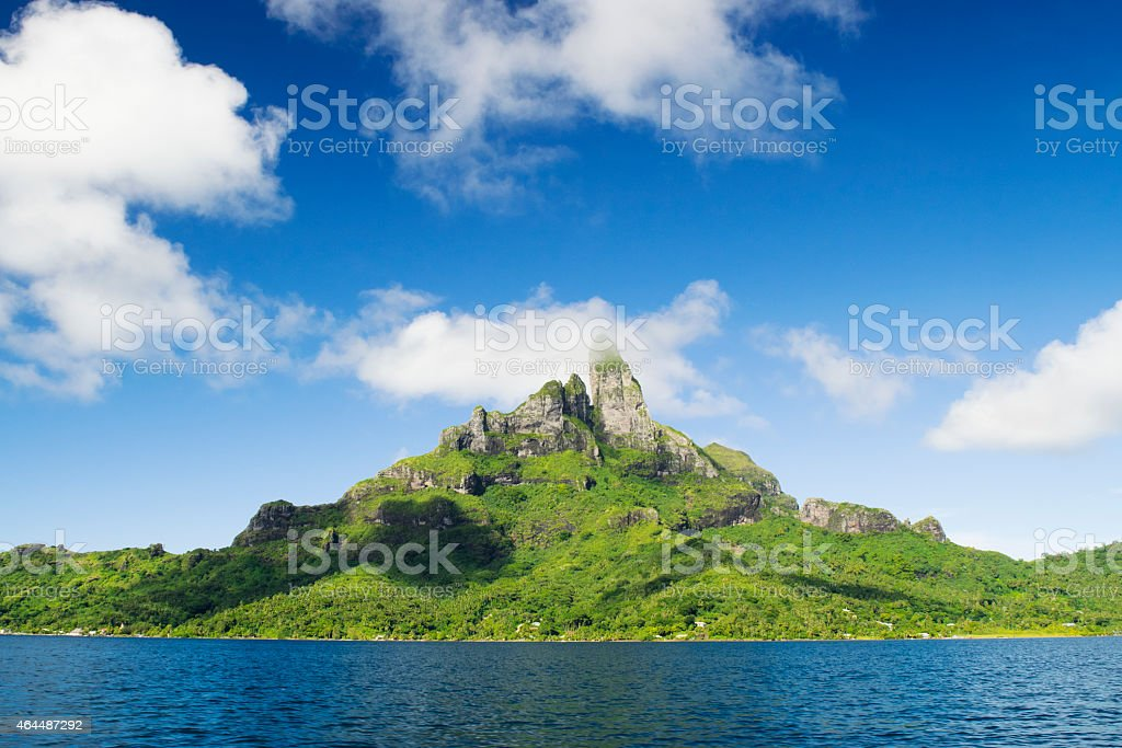 Bora Bora peak stock photo