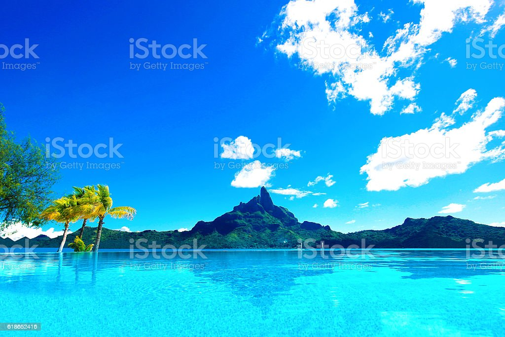 Bora Bora Tahiti Infinity stock photo