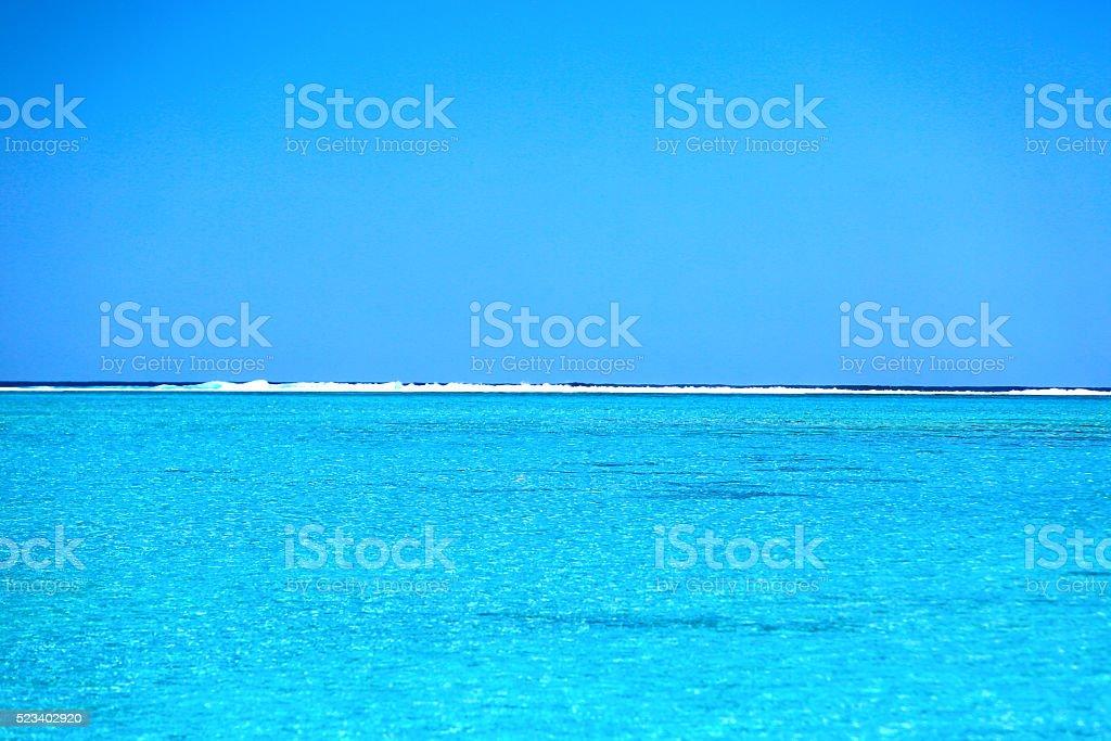 Bora Bora Tahiti Ocean stock photo