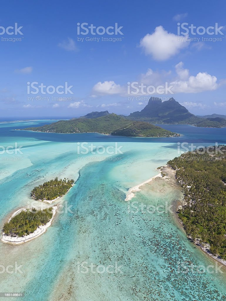 bora from helicopter stock photo