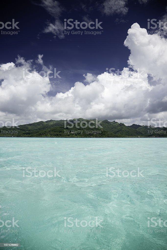 Bora-Bora Beautiful Lagoon royalty-free stock photo