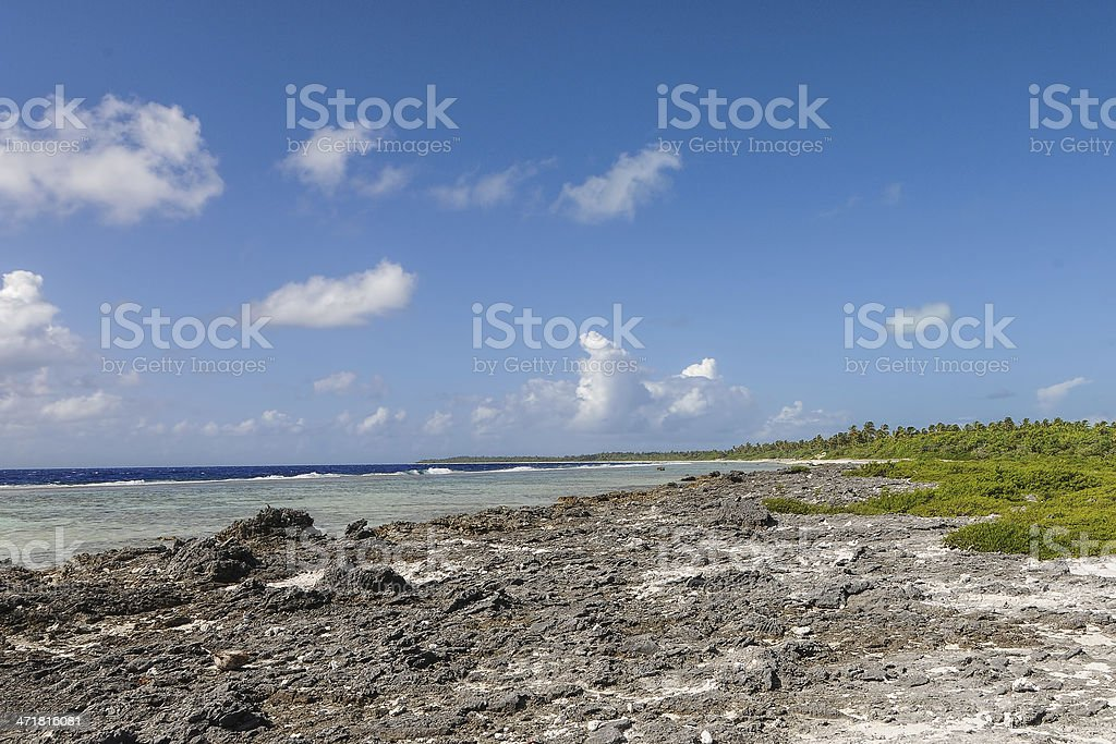Borabora external edge royalty-free stock photo
