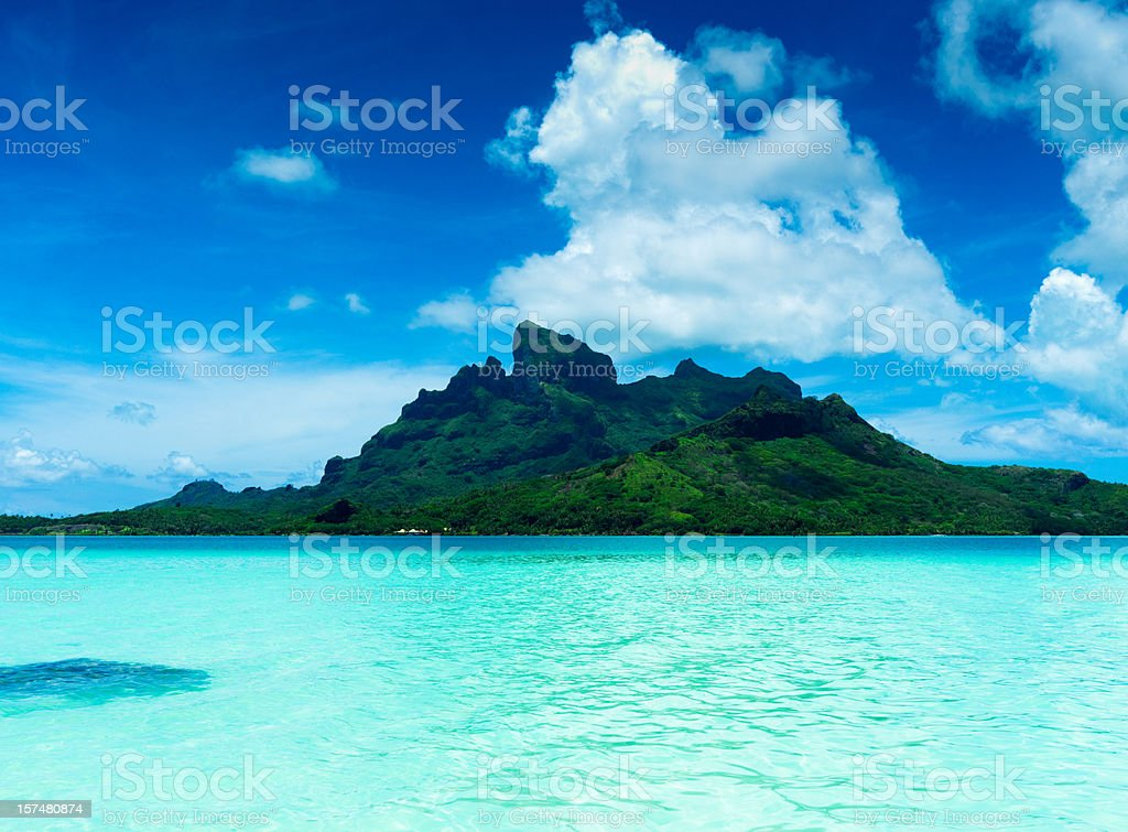Bora-Bora Holiday Island royalty-free stock photo
