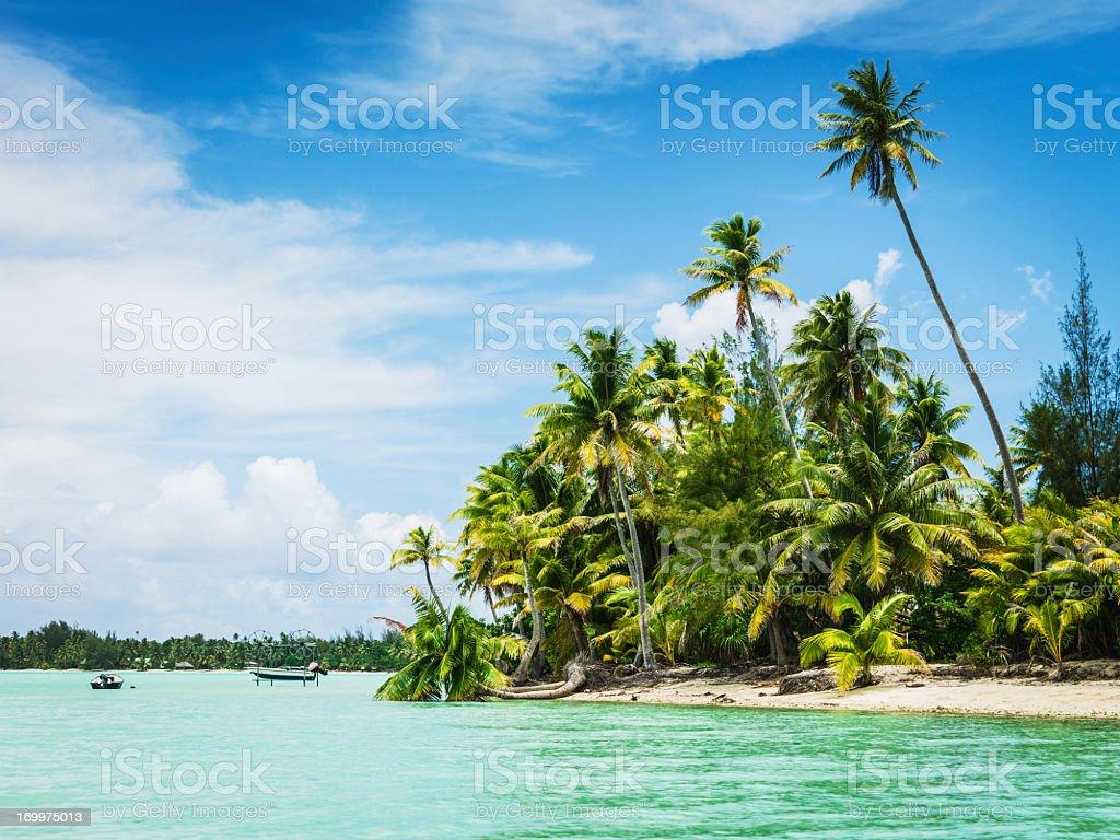 Bora-Bora Idyllic Tropical Island Summer Vacation South Pacific royalty-free stock photo