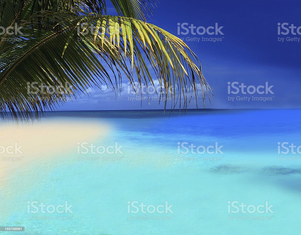 Bora-Bora in Polynesia royalty-free stock photo